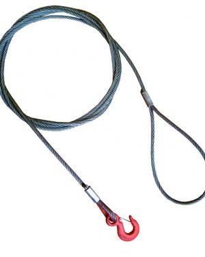 Буксировочный трос стальной 15 т. Диаметр троса 13 мм. Крюк/Петля