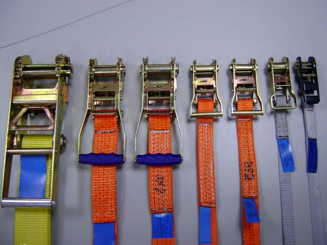 Стяжные ремни и рэтчеты для крепления грузов