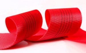 Красная лента для текстильных строп