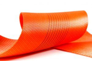 Оранжевая лента для текстильных строп