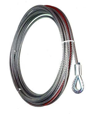 Трос стальной для автомобильных лебедок 5 т (d: 8.3 мм)